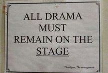 All the World's a Stage... / For those who love the theatre.