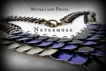 Metals and Pieces / If you're into chainmaille this is the place for you! Primarily focusing on jewelry pieces, Metals and Pieces belongs to a very old friend of mine who's business is growing in leaps and bounds since she founded it two years ago. She's very imaginative and skilled with the pliers. All of her work is hand crafted and designed by herself. Best of all she has something for every taste and style!