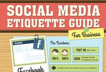 Social Media Infographics / Social media related infographics including usage statistics across social media platforms and some best practices for getting the most out of social media for business.