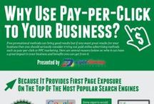 PPC Infographics / Infographics about Pay-per-click (PPC) advertising across all the PPC platforms including Google Adwords, Bing/Yahoo Advertising, Facebook Advertising and LinkedIn.