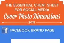 Social Media Image Sizes / Infographics that outline the image dimensions used on social media platforms for advertising timelines. Social media images are crucial to an account's success.