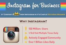 Instagram Infographics / Infographics with data about Instagram usage and ideal Instagram posting methods.