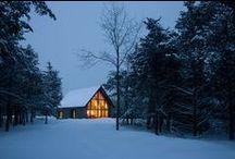 domy ve sněhu / bydlíme ve sněhu