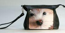 Custom Bag from Helen Artis / #Leather #Bag #Handbag #Handmade #PetPortrait #LeatherBag #HandmadeHandbag