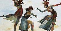 {Bevegelse} / movement, dance, art, drawing, artists, martial art