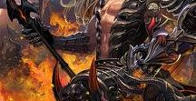 Men of the Cryptids / Fantasy illustrations featuring male characters.