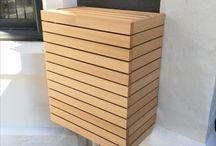 Cedar Utilities Cupboard / Western red cedar meter cupboard built to hide the existing ugly meter box