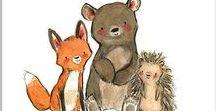 {Barnebok illustrasjoner} / illustrations, children, book