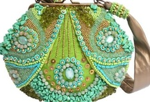 Beaded bag, purse and costume