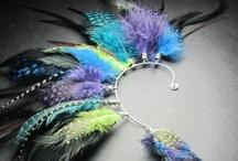 Jewelry - feathers, shamanic