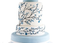 Wedding cakes white & colour inspiration board