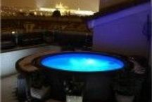 Softub at night / Starry nights and beautiful light concepts for Softub enjoyment at night