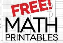 Math Printables / helpful printables for your young learners