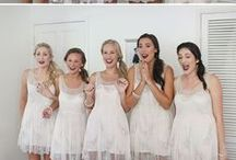 Bridesmaids / Bridesmaids outfits, wedding favors, gifts, hairstyles, shoes, etc