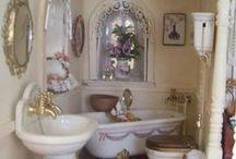 bathrooms idea for dollhouse / building miniatures