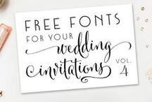 PRINTABLES / Inspirations graphiques #mariage #wedding