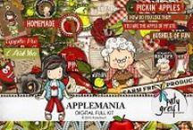 Applemania / This fabulous kit is full of fairies, fun, bright colours and apples, of course!