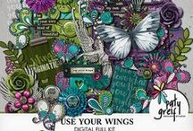 Use Your Wings / Dive into divineness!  Beautiful doodles, encouraging script and a magnificent colour palette.