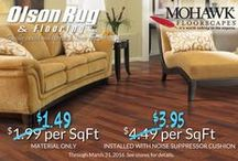 Mohawk Floorscapes Laminate SALE / Mohawk's laminate flooring has the highest moisture resistance of any manufacturer, the stablest core, and backing to prevent warping and buckling. Because of this it is the only brand of laminate flooring that Olson Rug has carried for the last 10 years. From now until March 31 all of Mohawk Floorscapes Laminate is on sale.
