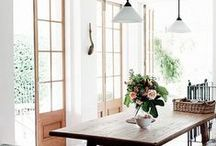 Dining room interior design ideas / From cosy kitchen dining spaces to elegant and gracious dining rooms.  Find inspiration here for your interior design ideas for a beautiful place to dine