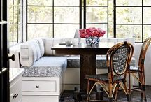 Breakfast Nook Interior Design / Fabulous ideas to utilise space and make a decorating statement. Breakfast nooks are a great alternative to eating in a dining room or at a breakfast bar.  Read my blog Making your HOME beautiful for lots more advice and decorating ideas.