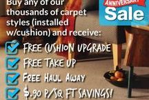 Olson Rug 142nd Anniversary Carpet Sale / It's Olson Rug's 142nd Anniversary Sale! September 5 through September 30 buy any of our thousands of carpet styles and save! Stop in to Chicago's Carpet and Flooring Store today for details.