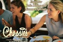 Chessie's Restaurant - Menu Features / Chessie's Restaurant, we take pride in providing excellent service and food to our customers. Our menu offers something for every taste and event including appetizers, salads, sandwiches and entrees. Join us for live music in our lounge or come watch the big game with us.Plan a romantic dinner & dine in our train car. We offer catering services and generous space to accommodate a variety of banquets. Join us for lunch, dinner or after hours and enjoy one of Barrington's favorites!