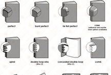 Reliures  I Binding / Voici nos différents supports, reliages (Dos carré collé, Reliure spirale, Piqûre cheval...)