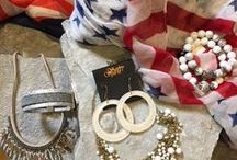 Show your RED WHITE and BLUE / Show your patriotic colors with apparel  Savvy Spirit Women's Clothing and EwelineB Fashion, Nails and Hair Color from Sanctuary Salon and Spa and Shoesand home furnishings from Paris Market Antiques and Barrington Fine Rug Gallery at the Ice House Mall!