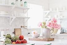 Creating Home | Kitchens / As a residential interior designer, I love a fresh, clean, and bright aesthetic with a lived-in look and lots of flowers!