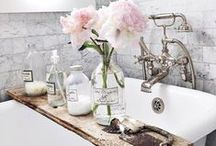 Creating Home | Bathrooms / As a residential interior designer, I love a fresh, clean, and bright aesthetic with a lived-in look and lots of flowers!