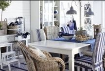 Interior Inspiration: New England / Channeling maritime notes, we're feeling inspired by that classic New England style.