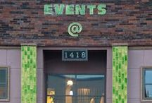 Events @ 1418 / Come discover our renovated facility in the heart of Nashville. Surrounded by chic architectural updates, our old is new again space gives guests the feeling of being a part of Nashville history. Perfect for rehearsal dinners, corporate meetings, showers, teas, receptions, gallery showings, and much more. We rent to only one client at a time, so the place is all yours!