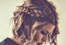 Braids for 'Maids / Half-up half-down braided hairstyles curated by my wonderful bridesmaids.