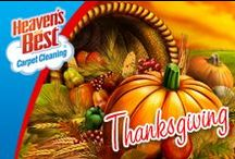 Fall and Thanksgiving / Heaven's Best can help you with all of your carpet and floor cleaning needs. We can help you get your carpets and upholstery in shape be your holiday guests arrive. Give us a call today. Heaven's Best Carpet Cleaning, Canton MI, 734-692-8990.