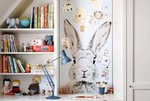 Kids Spaces / Playrooms and storage options for kids.