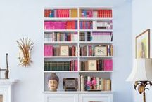 Library Ideas / Home Library and shelves for books