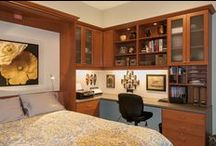 Home Office & Guest Room Combination / Make the most of your extra room!  A home office by day and a bedroom by night.