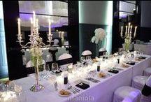 Maniola Black&White Wedding / Wedding designed by maniola.