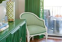 Gorgeous Greens / Green inspiration for interiors.