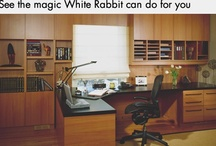 Home Office clutter gone! / White Rabbit Garage Organizers began working its magic on home office organization after our satisfied garage and basement organization customers began asking if we could make order out of chaos in their home offices. Thus began a process that has lead to an extensive understanding of the resources and materials that we can work with to create beautiful and efficient custom working spaces that will blend with your home décor. All at a price within reach...just like the paperclips.