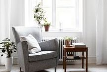 the living room / those rooms in the home to gather, relax and read