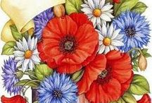 Flower Art / Illustration,painting,drawing,pattern etc ... / by Meral Cetin