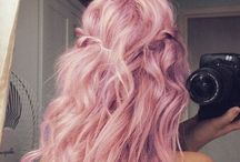 Fabulous Hair Ideas / My motto with hair is: Go big or go home!  I love pink hair too.