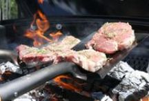 Pork T-Bones on a Shovel / by Barbecue! Bible