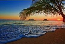 Sun Beach / Beach brings a good feeling. Sunrise brings spirit of a good day. Sunset brings night. All of them bring happiness!