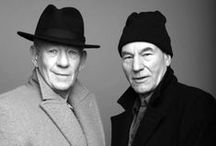 Sir Ian and Sir Pat Stew / Patrick Stewart and Ian McKellen awesomeness