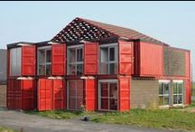 CARGOTECTURE / HyBrid Architecture coined the term cargotecture in 2004 to describe any structure built partially or entirely from recycled cargo containers.