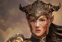 Art: Myth: Warriors, Norse myth, medieval, vikings etc / by Áhugamálin Mín