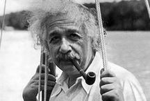 About Albert.... / Albert Einstein was not only gifted with a Genius intellect, he was also Humble, Funny, Drawn to Esoteric Principles, a Rebel, a Pisces, a Lover of the Feminine Mystique and a Child at Heart.  Albert kept his life Simple and Straight Forward, and yes he had the same challenges many of face today.  Yet he bared them with grace and most endearingly, a mischievous grin. ;).